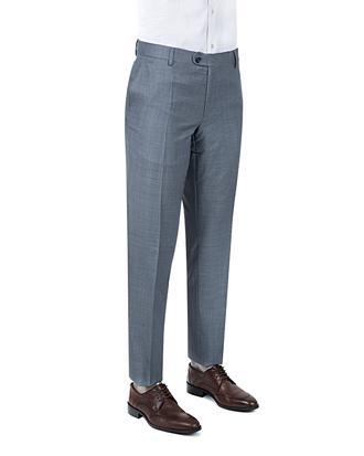 Ds Damat Slim Fit Mavi Armürlü Kumaş Pantolon - 8681494225630 | D'S Damat