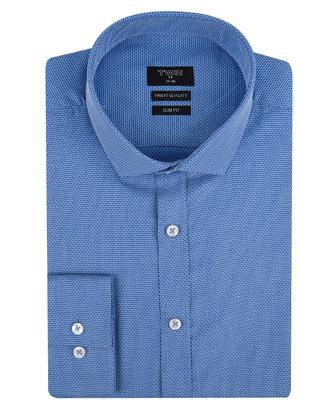 Twn Slim Fit Mavi Düz Gömlek - 8681494773209   D'S Damat