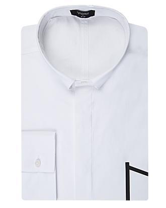 Twn Slim Fit Beyaz Düz Gömlek - 8681494650296 | D'S Damat