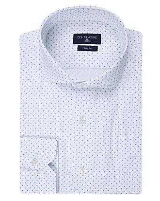 Ds Damat Slim Fit Beyaz Baskılı Gömlek - 8681494891422 | D'S Damat