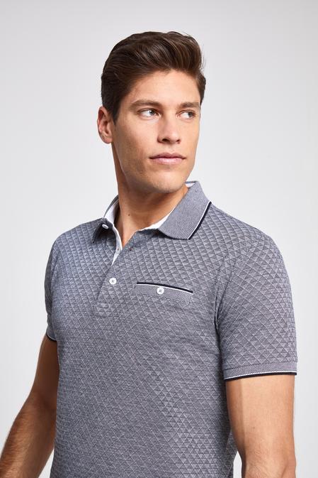 Ds Damat Regular Fit Lacivert Desenli T-shirt - 8682060089748   D'S Damat