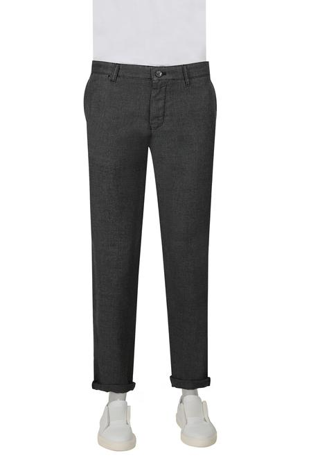 Twn Slim Fit Siyah Armürlü Chino Pantolon - 8682060504715 | D'S Damat