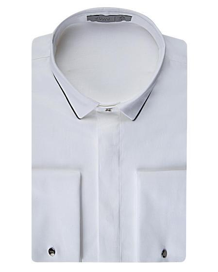Twn Slim Fit Beyaz Düz Smokin Gömlek - 8682060614940 | D'S Damat