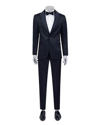 Ds Damat Slim Fit Slim Fit Lacivert Desenli Takim Elbise - 8682060617644 | D'S Damat