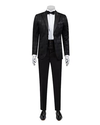 Ds Damat Slim Fit Slim Fit Siyah Eksantirik Takim Elbise - 8682060618412 | D'S Damat