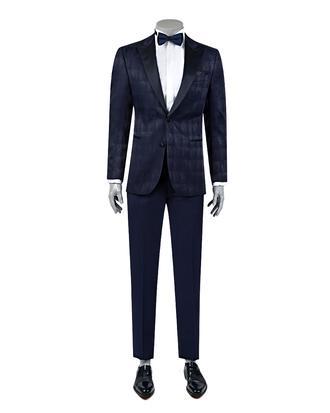 Ds Damat Slim Fit Slim Fit Lacivert Eksantirik Takim Elbise - 8682060618573 | D'S Damat