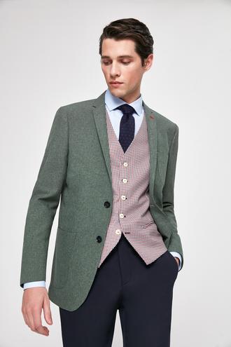 Twn Slim Fit Yeşil Armürlü Kombinli Takım Elbise - 8682060140296 | D'S Damat