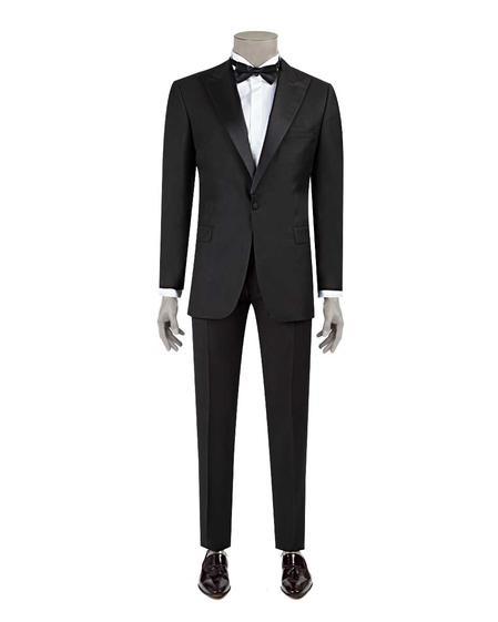 Ds Damat Slim Fit Slim Fit Siyah Düz Takim Elbise - 8682060622693   D'S Damat