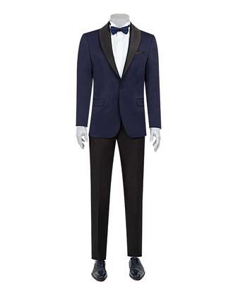 Ds Damat Slim Fit Slim Fit Lacivert Jakar Desenli Takim Elbise - 8682060623775 | D'S Damat