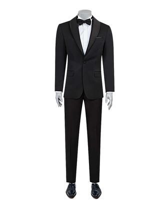 Ds Damat Slim Fit Slim Fit Siyah Jakar Desenli Takim Elbise - 8682060625267 | D'S Damat