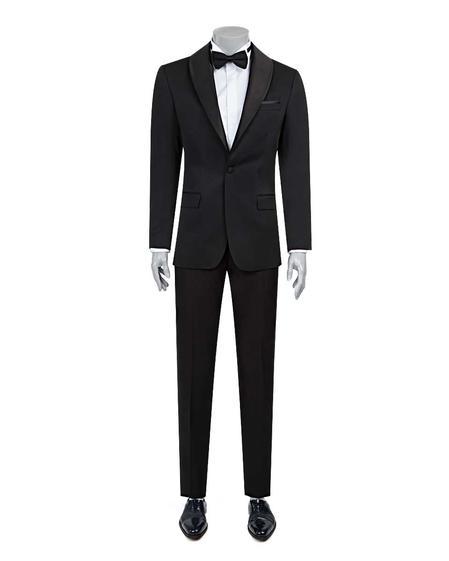 Ds Damat Slim Fit Slim Fit Siyah Jakar Desenli Takim Elbise - 8682060625267   D'S Damat