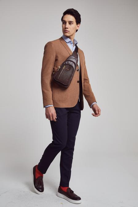 Twn Slim Fit Slim Fit Kiremit Armürlü Kombinli Takım Elbise - 8682060140616 | D'S Damat