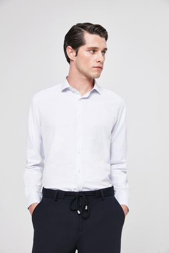 Twn Slim Fit Lacivert Desenli Gömlek - 8682060088062   D'S Damat