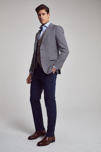 Ds Damat Slim Fit Slim Fit Lacivert Yelekli Takim Elbise - 8682060148773 | D'S Damat