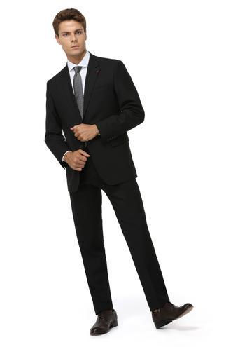 Ds Damat Regular Fit Slim Fit Siyah Düz Takim Elbise - 8682060047199 | D'S Damat