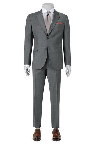 Ds Damat Regular Fit Slim Fit Gri Düz Takim Elbise - 8681779837619   D'S Damat