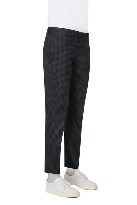 Twn Slim Fit Lacivert Kareli Kumaş Pantolon - 8682060077738 | D'S Damat