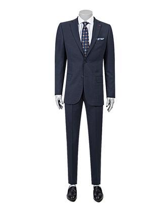 Ds Damat Regular Fit Regular Fit Lacivert Armürlü Takim Elbise - 8681779864387 | D'S Damat