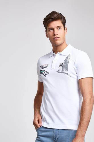 Ds Damat Slim Fit Beyaz T-Shirt - 8682060091659 | D'S Damat