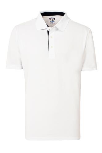 Ds Damat Regular Fit Beyaz Pike Dokulu T-shirt - 8681779870845 | D'S Damat