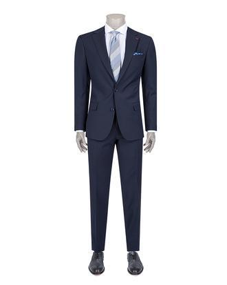 Ds Damat Slim Fit Slim Fit Lacivert Düz Takim Elbise - 8681779871361 | D'S Damat