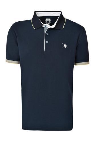 Ds Damat Regular Fit Lacivert Pike Dokulu T-shirt - 8681779871767   D'S Damat