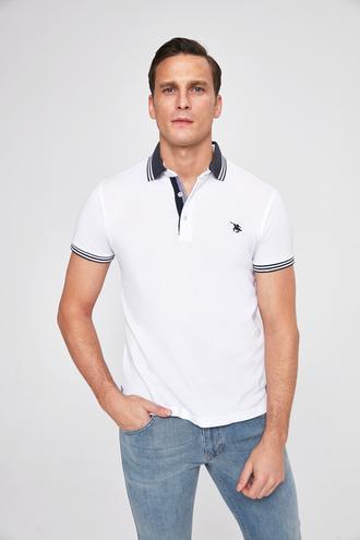 Ds Damat Slim Fit Beyaz T-Shirt - 8682060046543 | D'S Damat