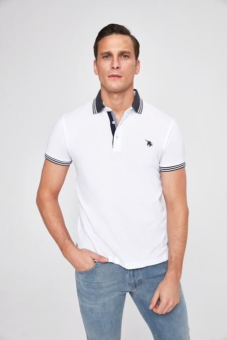 Ds Damat Slim Fit Beyaz Düz T-shirt - 8682060046543 | D'S Damat