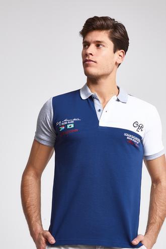 Ds Damat Regular Fit İndigo T-Shirt - 8682060090669 | D'S Damat