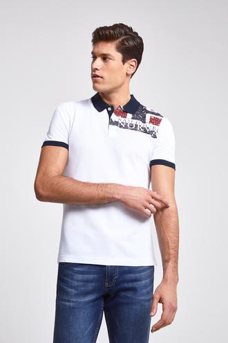 Ds Damat Slim Fit Beyaz T-Shirt - 8681779867814 | D'S Damat