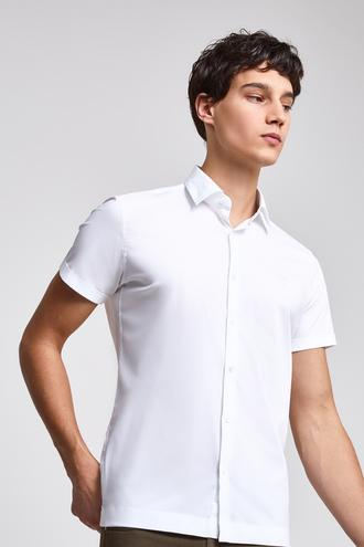 Twn Slim Fit Beyaz Düz Gömlek - 8681779908548 | D'S Damat