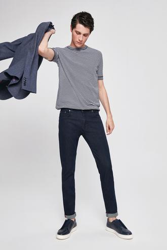 Ds Damat Slim Fit Lacivert Düz Denim Pantolon - 8682445331271 | D'S Damat