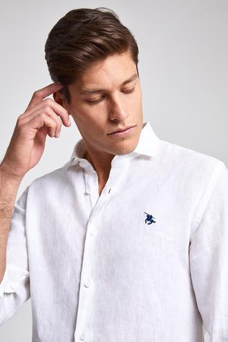 Ds Damat Slim Fit Beyaz Düz Gömlek - 8682060132222 | D'S Damat