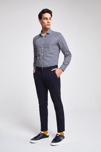 Twn Slim Fit Lacivert Çizgili Chino Pantolon - 8682445092202 | D'S Damat