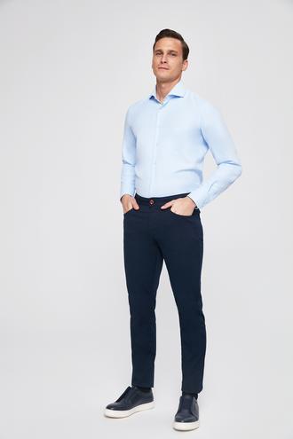 Twn Slim Fit Lacivert Armürlü Pantolon - 8682060157249 | D'S Damat