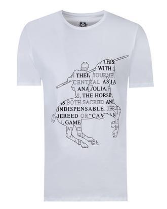 Ds Damat Regular Fit Beyaz Baskılı T-shirt - 8681779116127 | D'S Damat