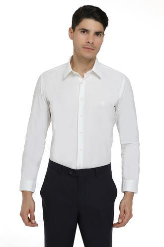 Twn Slim Fit Beyaz Düz Gömlek - 8682445045291 | D'S Damat