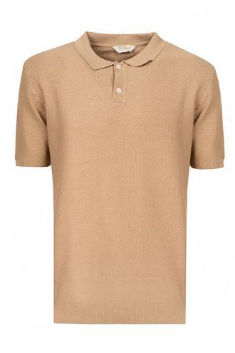 Ds Damat Regular Fit Camel Petek Örgü T-shirt - 8681779855514   D'S Damat