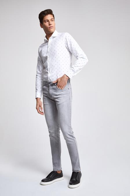 Twn Super Slim Fit Gri Taşlı Denım Pantolon - 8682060100566 | D'S Damat