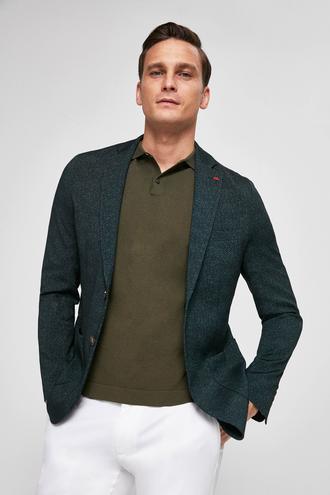 Twn Slim Fit Yeşil Baskılı Sihirli Kumaş Ceket - 8682445303001 | D'S Damat