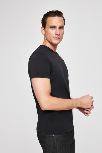 Twn Slim Fit Siyah Düz T-shirt - 8682060049094 | D'S Damat