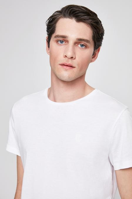 Twn Slim Fit Beyaz Düz T-shirt - 8682060049636 | D'S Damat