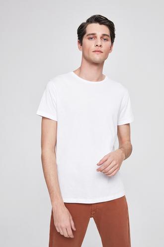 Twn Slim Fit Beyaz T-shırt - 8682060049636   D'S Damat