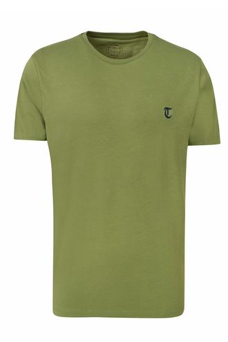 Twn Slim Fit Haki Düz T-shirt - 8681779813750 | D'S Damat