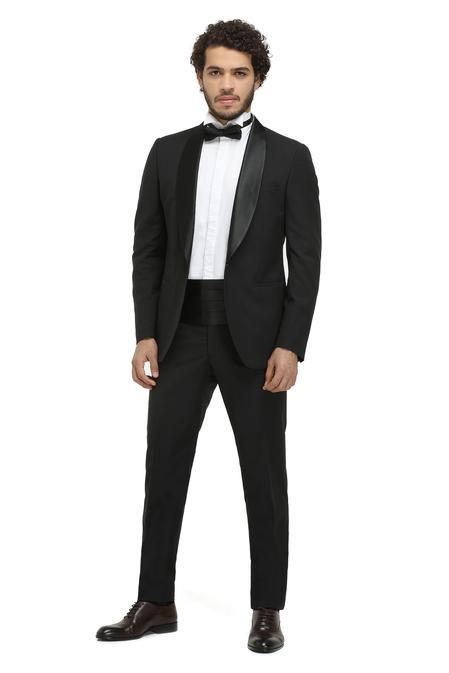Twn Slim Fit Slim  Fit Siyah Düz Takim Elbise - 8681779829331   D'S Damat