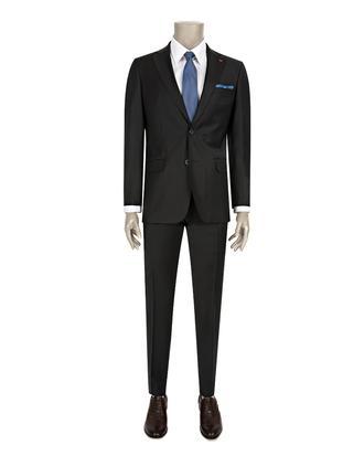 Ds Damat Slim Fit Slim Fit Siyah Düz Takim Elbise - 8681779838005 | D'S Damat