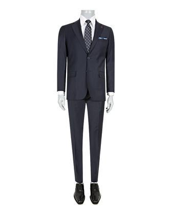 Ds Damat Slim Fit Slim Fit Lacivert Düz Takim Elbise - 8681779838098 | D'S Damat