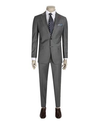 Ds Damat Slim Fit Slim Fit Gri Düz Takim Elbise - 8681779838326 | D'S Damat