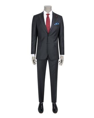 Ds Damat Slim Fit Slim Fit Antrasit Düz Takim Elbise - 8681779838586 | D'S Damat