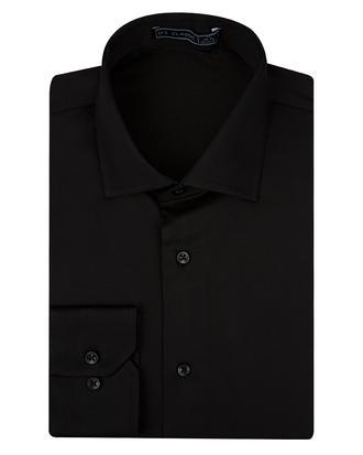 Ds Damat Slim Fit Siyah Düz Gömlek - 8682060150981 | D'S Damat